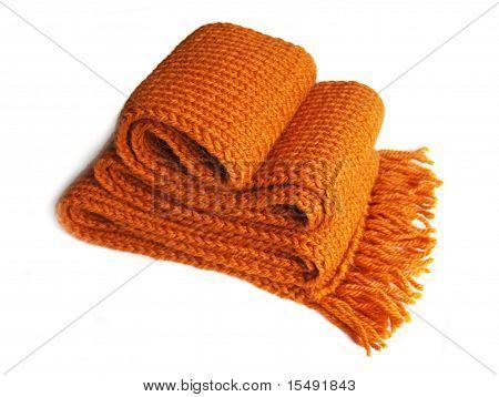 Knitted Orange Scarf