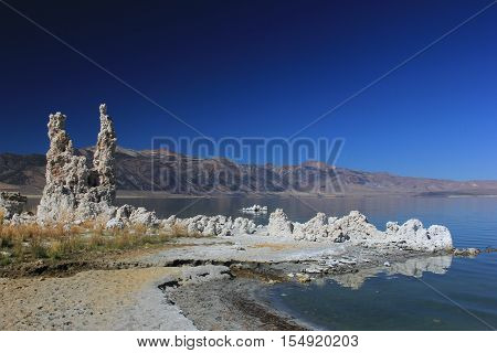 Tufas at Mono Lake in North Eastern California
