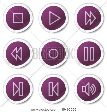 Walkman web icons, purple stickers series