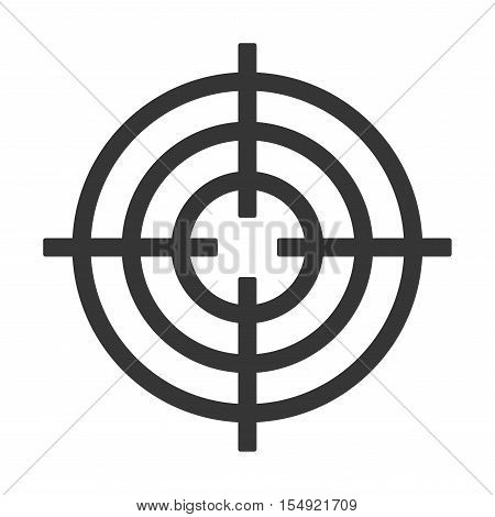 Shooting Target Icon Isolated on White Background. Vector illustration