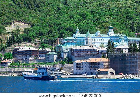 Saint Panteleimon Monastery, Athos Peninsula, Mount Athos, Chalkidiki, Greece
