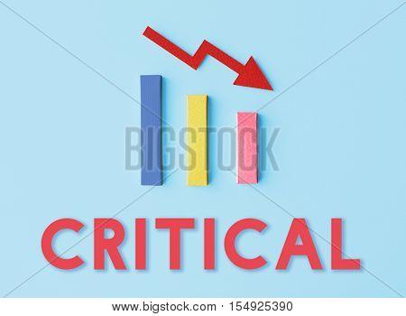 Recession Statistics Financial Failure Concept