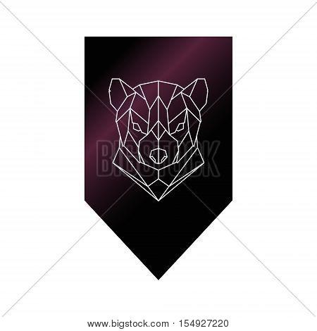 Tasmanian devil polygonal head sign. Vector illustration.