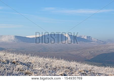 Snow on the Brecon Beacons in winter