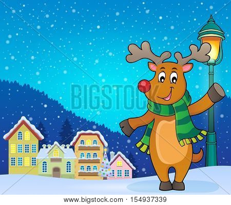 Stylized Christmas deer theme image 3 - eps10 vector illustration.