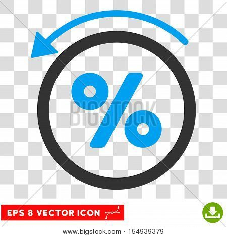 Rebate Percent EPS vector icon. Illustration style is flat iconic bicolor blue and gray symbol on white background.