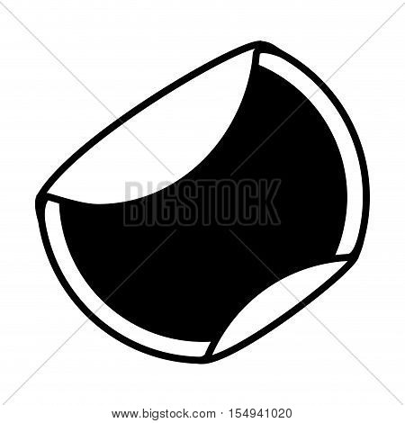 silhouette of blank sticker in circle shape icon over white background. vector illustration