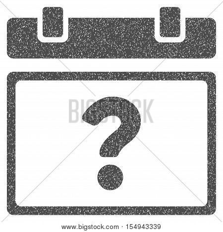 Unknown Date grainy textured icon for overlay watermark stamps. Flat symbol with unclean texture. Dotted vector gray ink rubber seal stamp with grunge design on a white background.