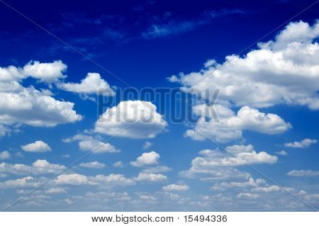 The sky and clouds.