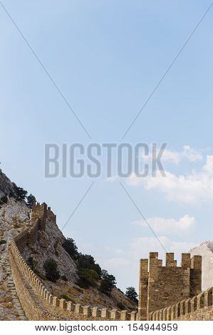 Russia. Crimea. Sudak. Genoese fortress. Towers 14.09.2016