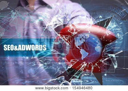 Business, Technology, Internet And Network Security. Seo&adwords