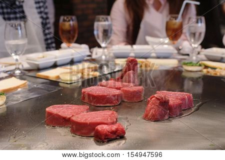 Grilling beef steak japanese kobe matsusaka 2014
