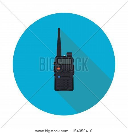 portable radio flat icon in vector format eps10