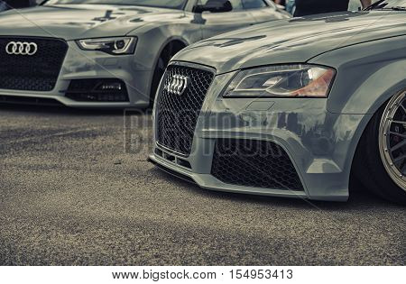 Wroclaw, Poland  - July 9 :tuning Of Audi Rs6  Raceism Event 2016 On July 9 ,wroclaw, Poland