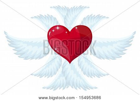 angel wings . Isolated on white background. Stock vector illustration