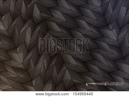 Rectangles. Folded glossy background