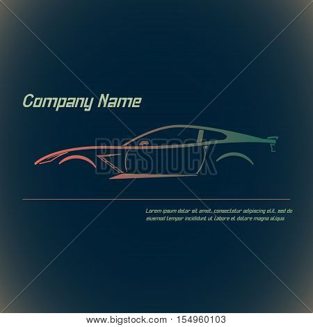 Concept street sportscar Vehicle Silhouette. Vector illustration.
