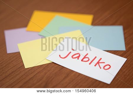 Czech; Learning New Language With The Flaish Card (translation; Apple)