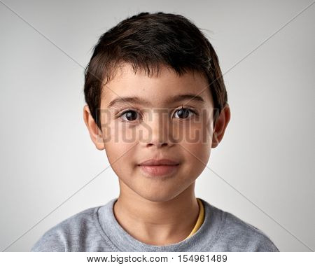 portrait of young mixed race child