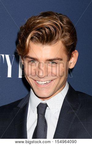LOS ANGELES - NOV 2:  Garrett Clayton at the NBC And Vanity Fair Toast the 2016-2017 TV Season at NeueHouse Hollywood on November 2, 2016 in Los Angeles, CA