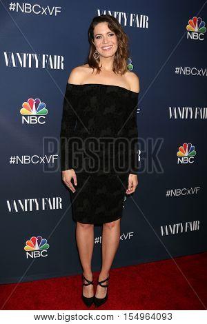LOS ANGELES - NOV 2:  Mandy Moore at the NBC And Vanity Fair Toast the 2016-2017 TV Season at NeueHouse Hollywood on November 2, 2016 in Los Angeles, CA
