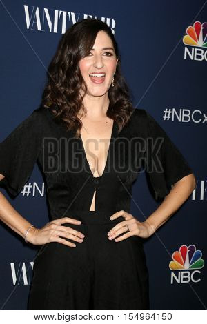 LOS ANGELES - NOV 2:  D'arcy Carden at the NBC And Vanity Fair Toast the 2016-2017 TV Season at NeueHouse Hollywood on November 2, 2016 in Los Angeles, CA