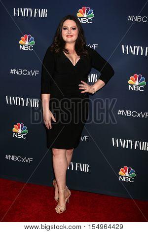 LOS ANGELES - NOV 2:  Lauren Ash at the NBC And Vanity Fair Toast the 2016-2017 TV Season at NeueHouse Hollywood on November 2, 2016 in Los Angeles, CA