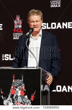 John Madden at Jessica Chastain Hand And Footprint Ceremony held at the TCL Chinese Theatre in Hollywood, USA on November 3, 2016.