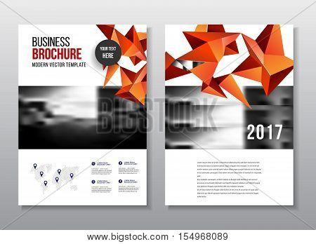 Annual Report Vector Illustration. Flyer Or Poster For Party. A4 Size Corporate Business Brochure Co