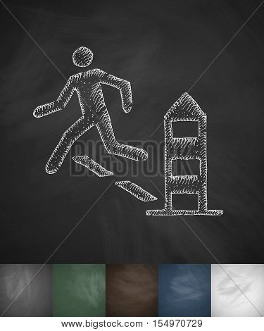 escape icon. Hand drawn vector illustration. Chalkboard Design