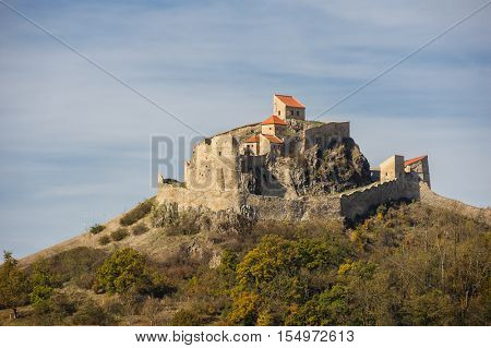 Rupea, Romania - October 20th, 2016: Rupea is famous medieval fortress, one of the oldest historic sites in Romania