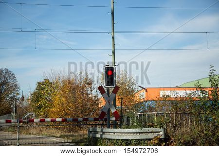 Andreas cross blue sky in automn, signal