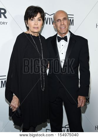 LOS ANGELES - OCT 27:  Jeffrey Katzenberg and Marilyn Katzenberg arrives to the amFAR's Inspiration Gala on October 27, 2016 in Hollywood, CA