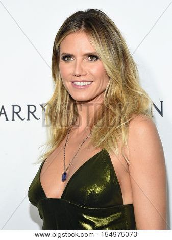 LOS ANGELES - OCT 27:  Heidi Klum arrives to the amFAR's Inspiration Gala on October 27, 2016 in Hollywood, CA