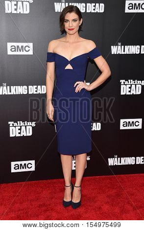 LOS ANGELES - OCT 23:  Lauren Cohan arrives to the Special taping of