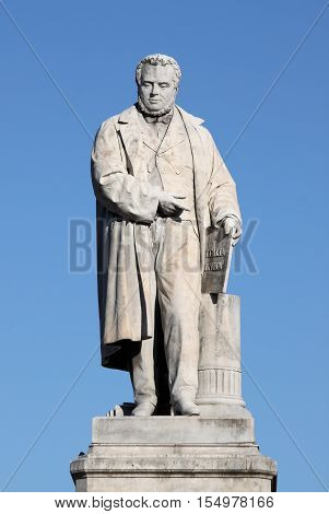 Monument to Camillo Benso of Cavour in Ancona, Italy