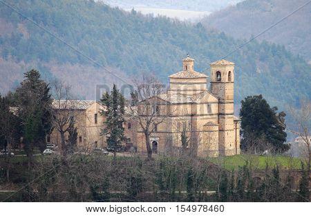 The Saint Bernardino church in Urbino, Italy