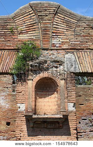 Alcove for statue in Ostia Antica the old Harbour of Rome, Italy