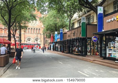 Saigon Street In Vietnam