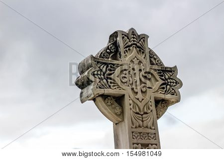 Stone Religious Sculpted Cross