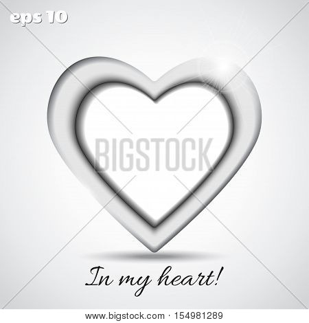 Vector frame in the form of heart. Put your image to frame easily.