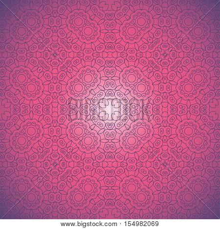 Abstract seamless background. Filigree vector design. Easy to change colors.