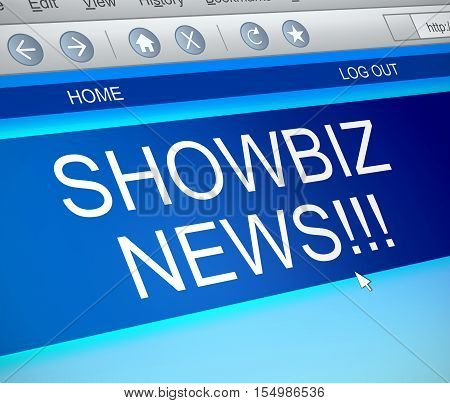 Showbiz News Concept.
