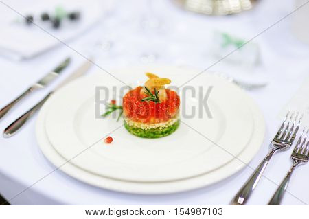 Fish Dish On A White Plate