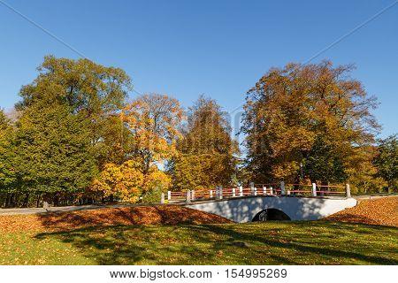 Beautiful  landscape -  Urban  autumn  landscape in Ventspils Latvia