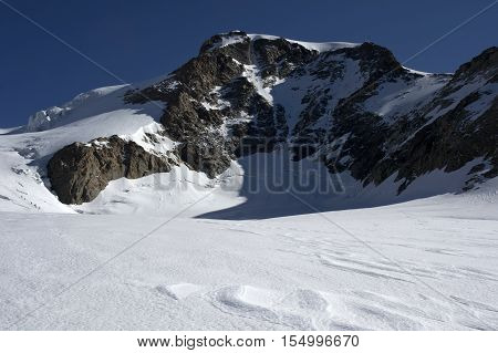 view of vincent pyramid on monte rosa