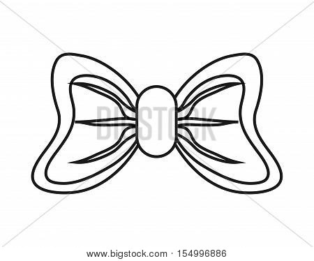 Bowtie icon. Decoration gift and card theme. Isolated design. Vector illustration