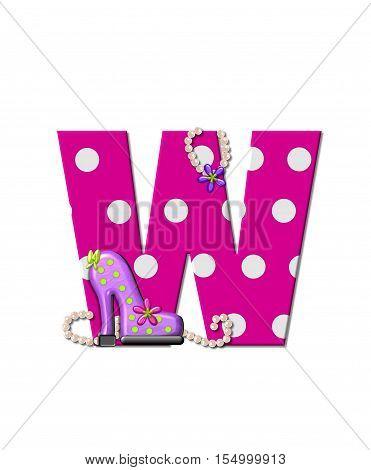 Alphabet Shoe Dive W