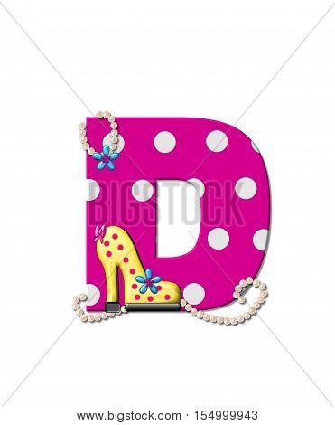 Alphabet Shoe Dive D