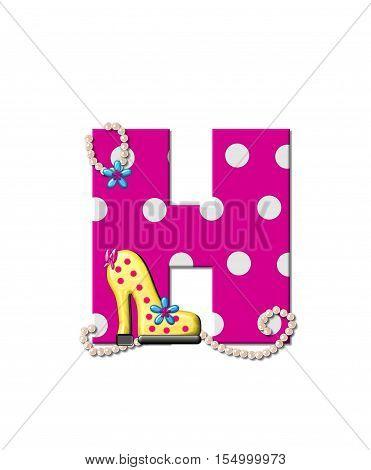 Alphabet Shoe Dive H